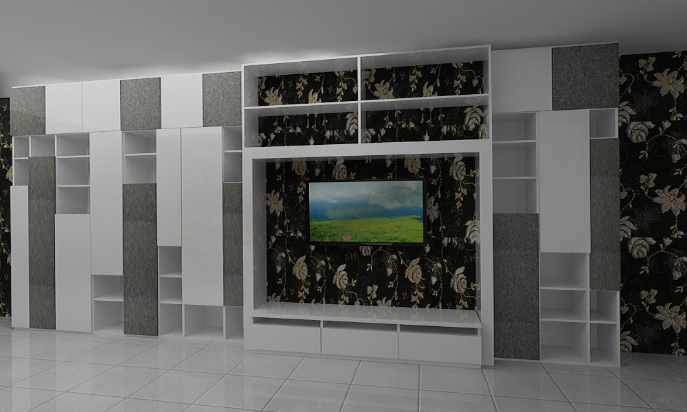 Living Room dan Back Drop TV Elegan