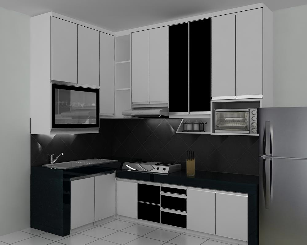 Haidar kitchen blog archive kitchen set minimalis for Kitchen set hitam putih